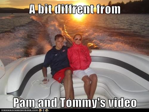 A bit diffrent from  Pam and Tommy's video