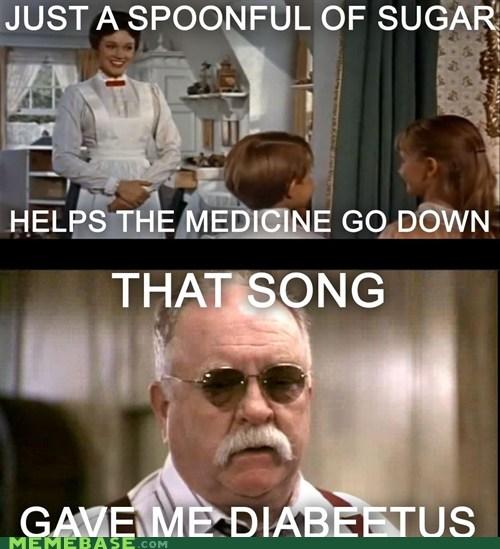diabetes,mary poppins,wilford brimley