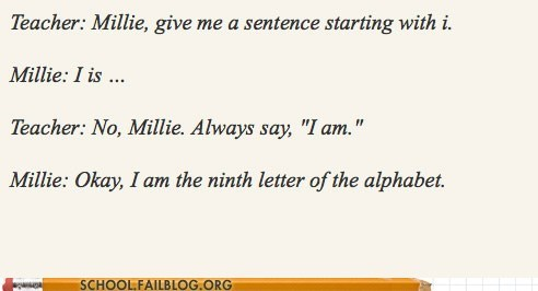 School of Fail: You Can't Be a Letter!