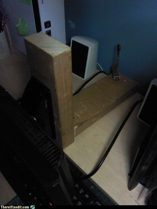 I Told You I Wood Mount the Monitor!