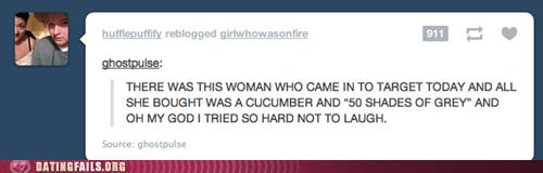 50 shades of grey,cucumbers,Target,tumblr