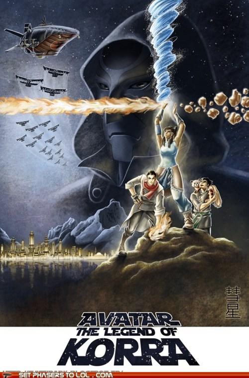 avatar-the-last-airbende,Avatar the Last Airbender,avatar-the-legend-of-kor,avatar-the-legend-of-korra,FanArt,korra,poster,star wars,water bending