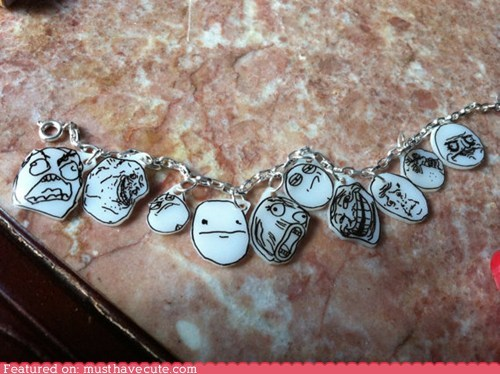 bracelet,Jewelry,Memes,ragefaces,shrinky dinks