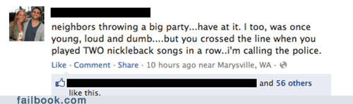 calling the cops,chad kroeger,nickelback,partying