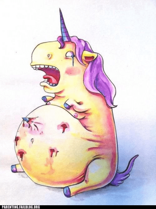 Parenting Fails: Pregnancy is Even Harder on Unicorns