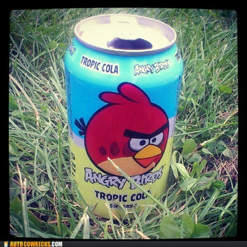 angry birds,marketing,needs to top,tropic cola