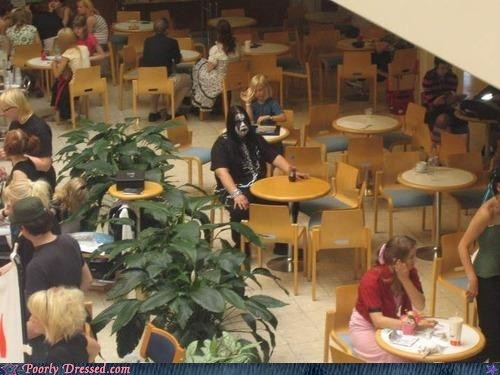 food court,havey metal makeup