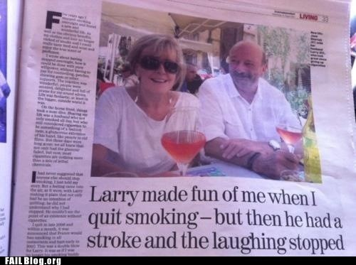 Probably Bad News: Larry Didn't Talk Much After That