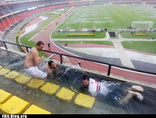 Swimming at the Stadium FAIL