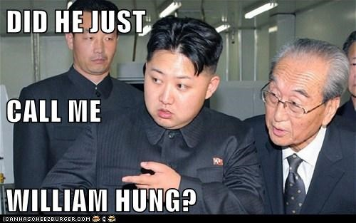 kim jong-un,singing,William Hung,insult,confused