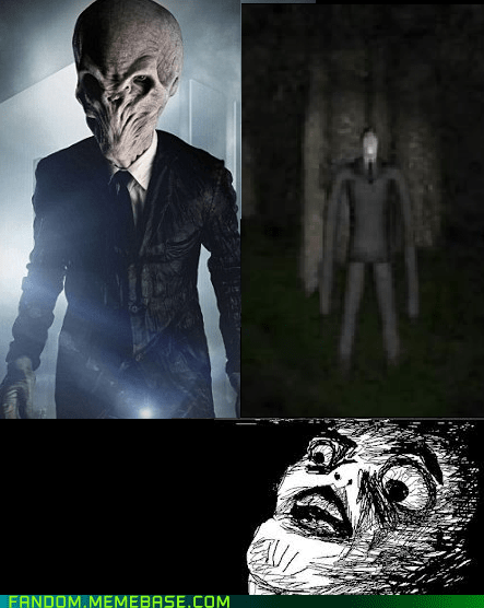 crossover,doctor who,raisin face,slenderman,the silence