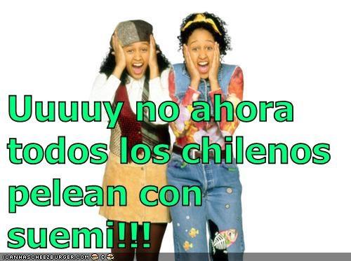 Uuuuy no ahora todos los chilenos pelean con suemi!!!