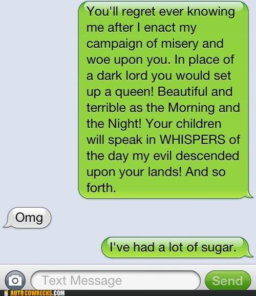 "Yea. ""Sugar."""