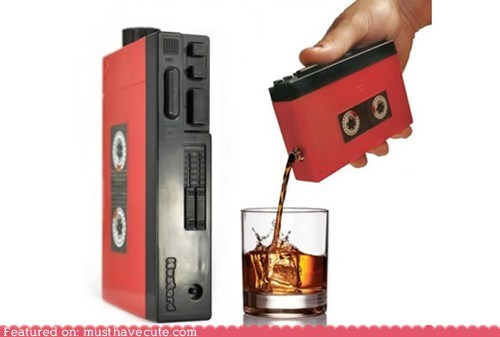 flask,hidden,incognito,tape player,walkman