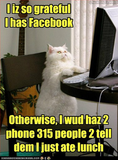 Teh mouse won't be liking ur status update!