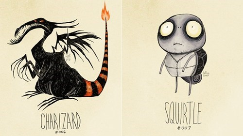Tim Burton-Style Pokemon of the Day