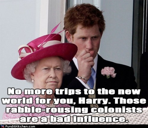 bad influence,New World,no more,Prince Harry,punishment,Queen Elizabeth II