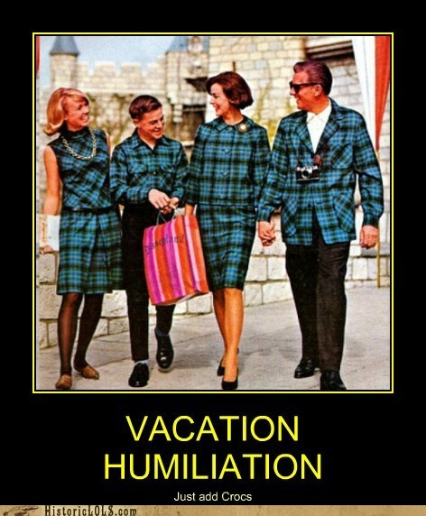 family,humiliating,matching,outfits,plaid,vacation