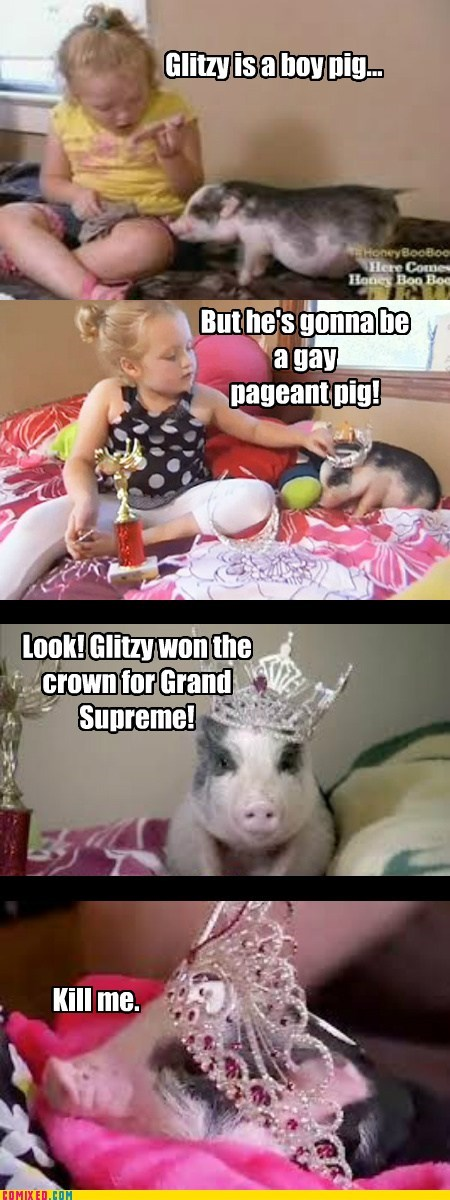 Honey Boo Boo Child,kill me now,pig,tlc,TV