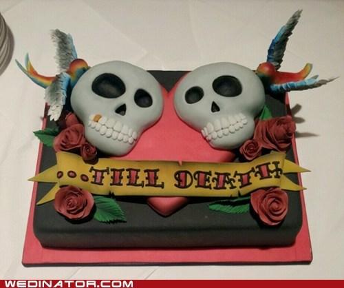 cake,fondant,skulls,till death