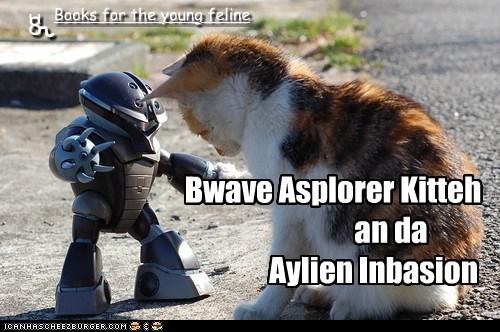Bwave Asplorer Kitteh an da Aylien Inbasion