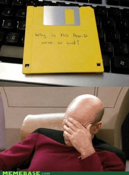 disk,FAIL,hard,note,post it