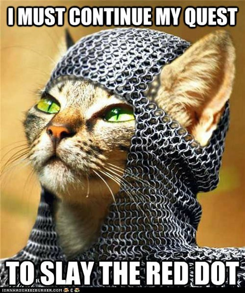 Cats,knights,laser pointers,lasers,medieval,red dot,slay
