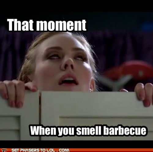 barbecue,deborah ann woll,food,happy,jessica hamby,smell,that moment