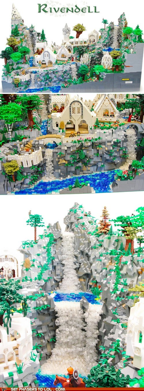 detailed,fan art,Frodo Baggins,gandalf,lego,Lord of the Rings,project,rivendell