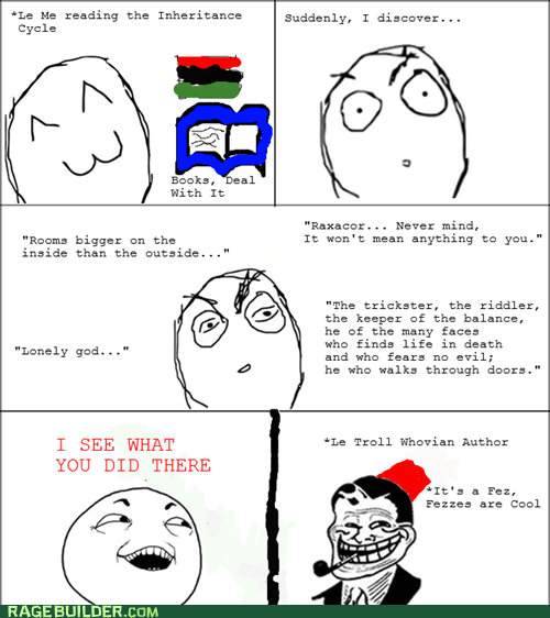 inheritance cycle,eragon,doctor who,Rage Comics