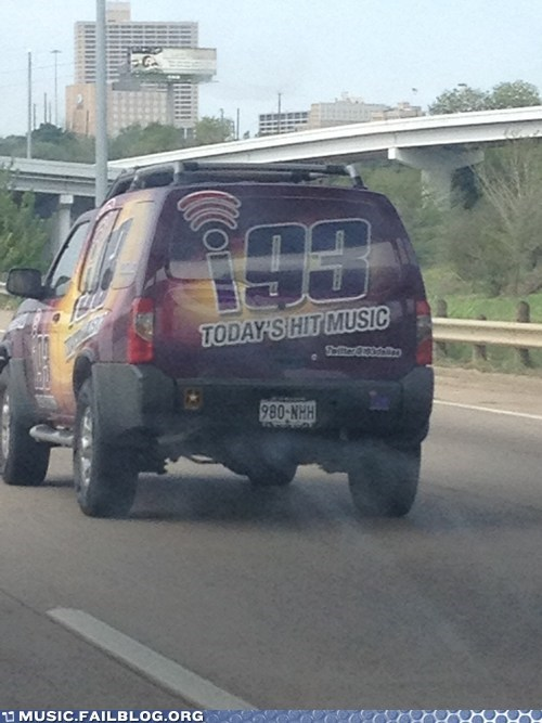 Bad Kerning? Or Bad Radio Station?