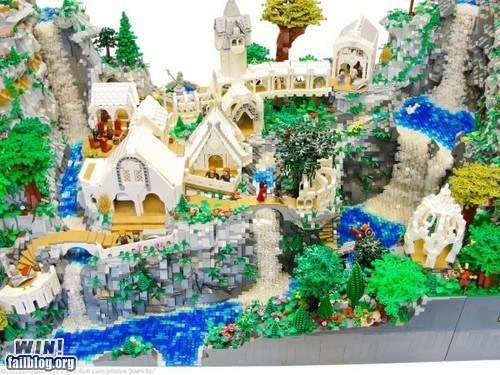 elves,lego,Lord of the Rings,model,nerdgasm,rivendell
