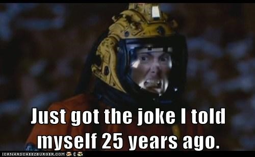 David Tennant,doctor who,humor,joke,just got it,laughing,space suit,the doctor,Time lord