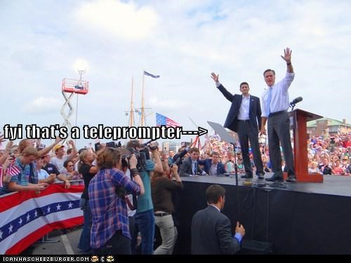 arrow,fyi,Mitt Romney,paul ryan,right there,teleprompter