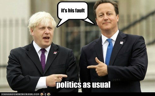 blaming,boris johnson,david cameron,pointing,politics,united kingdom,your fault