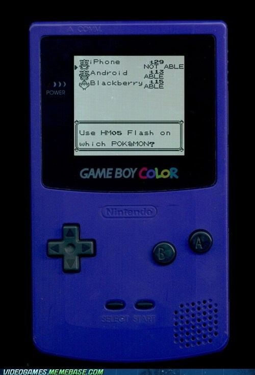 flash,game boy color,iphone,not able