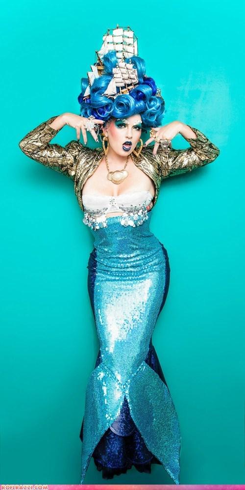 fashion,if style could kill,kindra meyer,mermaid,nautical,ship,wig