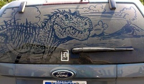 Dirty Car Dinosaur of the Day