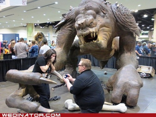 convention,geeks,nerds,proposal,rancor,sci fi,star wars