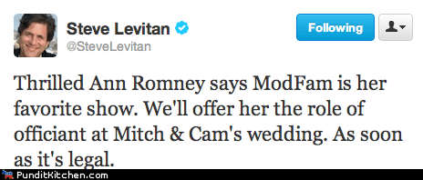 Ann Romney,favorite show,gay marriage,legal,Modern Family,rnc