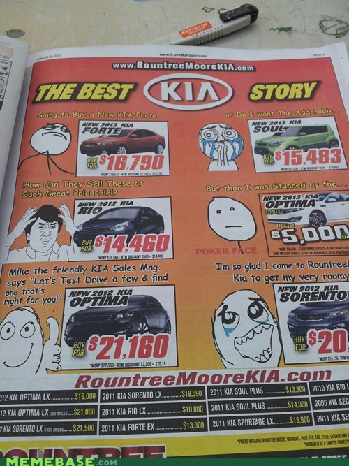 Ad,kia,marketing,rage faces