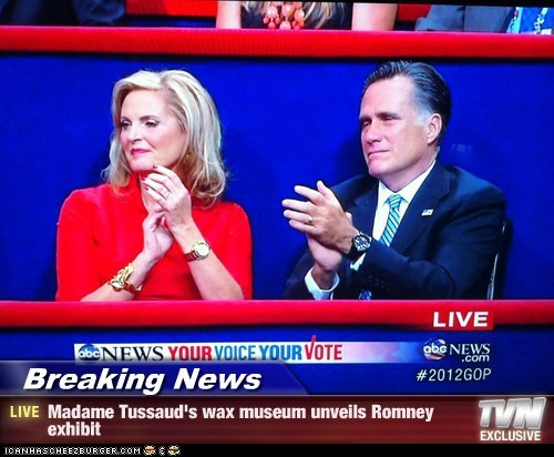 Ann Romney,exhibit,figures,lifelike,Mitt Romney,rnc,wax museum