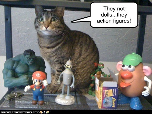 collection,dolls,action figures,Cats,captions,collector