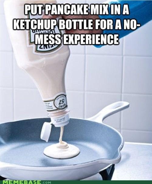 ketchup,Lifehack,memehacks,pancakes