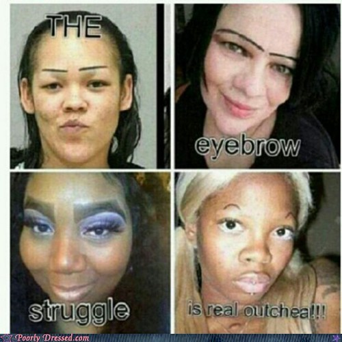 eyebrows,struggle