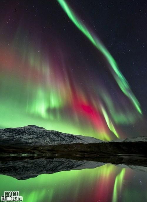 aurora borealis,mother nature ftw,mountain,nature,wincation
