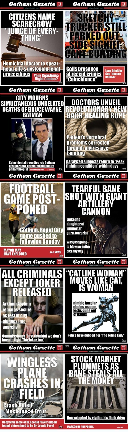 Gotham Newspaper Headlines