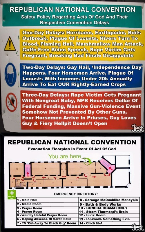 Republican National Convention Safety Policy and Evacuation Plan