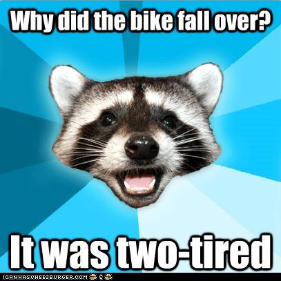 bad jokes,bicycles,bikes,Lame Pun Coon,Memes,puns