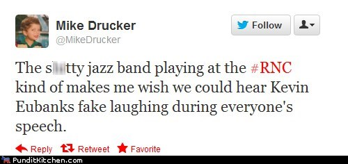 Awkward,band,jay leno,jazz,kevin eubanks,Music,rnc,tweet